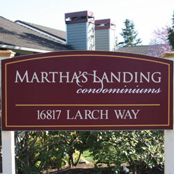 Martha's Landing Condominiums Sign